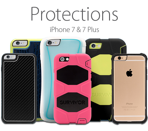 Protections pour iPhone 7 & 7 Plus