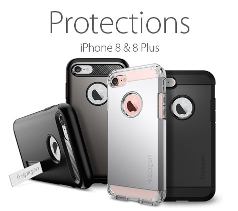 Protections pour iPhone 8 & 8 Plus