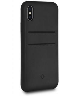 Twelve South Coque Relaxed Leather iPhone X/XS - Noir