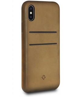Twelve South Coque Relaxed Leather iPhone X/XS - Cognac