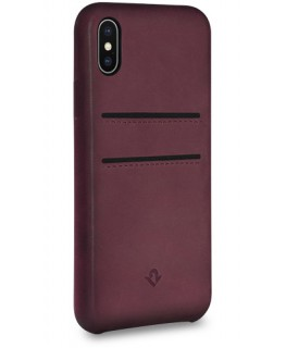 Twelve South Coque Relaxed Leather iPhone X/XS - Marsala