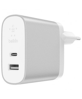 Belkin Chargeur secteur 2 ports BOOST↑CHARGE (USB-C 27 W + USB-A 12 W)