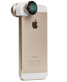 Olloclip objectif 4-en-1 Or/Blanc iPhone 5s/SE