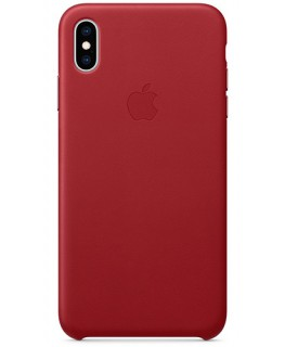 Apple Coque en cuir iPhone XS Max - (PRODUCT)RED