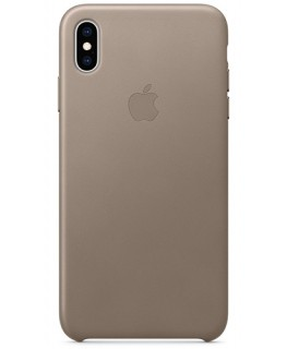 Apple Coque en cuir iPhone XS Max - Taupe