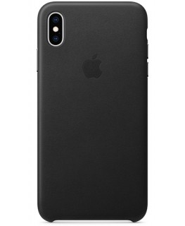 Apple Coque en cuir iPhone XS - Noir