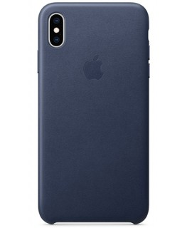 Apple Coque en cuir iPhone XS Max - Bleu nuit
