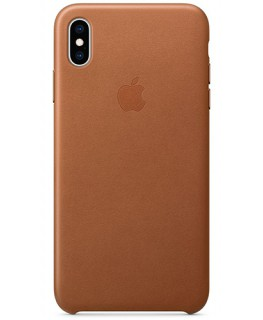 Apple Coque en cuir iPhone XS Max - Havane